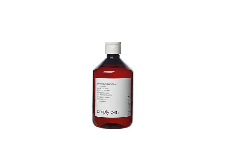 Pre-colour shampoo